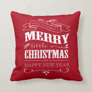 Merry Little Christmas -Red Pillow