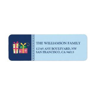 Merry Little Christmas Return Address (blue) Label