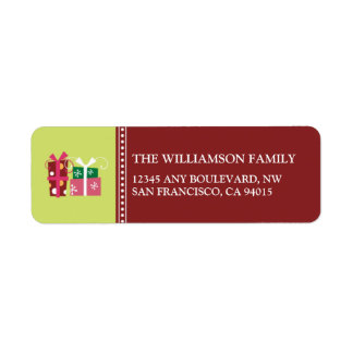 Merry Little Christmas Return Address Labels (red)