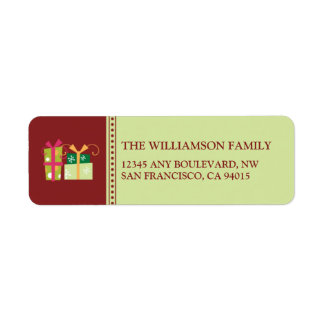 Merry Little Christmas Return Address Labels (sage