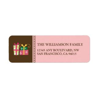 Merry Little Christmas Return Address (pink) Label
