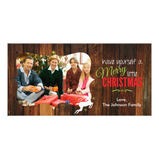 Merry Little Christmas Rustic Card