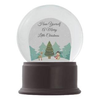 Merry Little Christmas Snow Globe