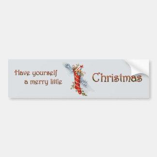 Merry Little Christmas Stocking Bumper Sticker