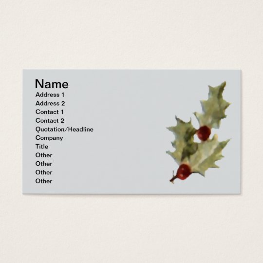 Merry Little Christmas Stocking Business Card