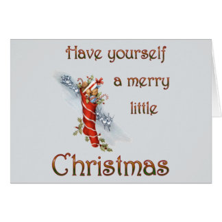 Merry Little Christmas Stocking Greeting Card