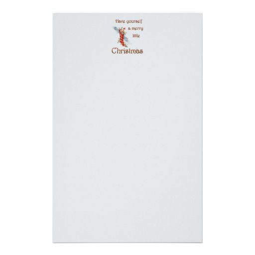 Merry Little Christmas Stocking Customized Stationery