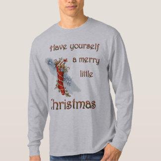 Merry Little Christmas Stocking Tee Shirt