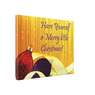 Merry little Elegant Christmas Ornaments Canvas Print