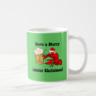 Merry lobster Christmas Classic White Coffee Mug
