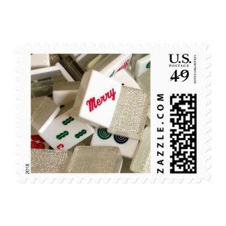 Merry Mahj Stamps