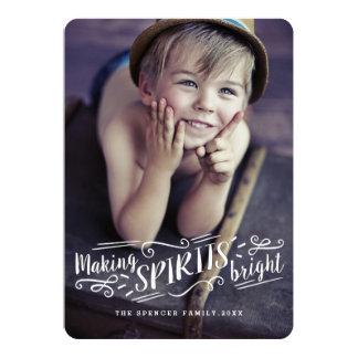 Merry Making Spirits Bright Holiday Photo Card