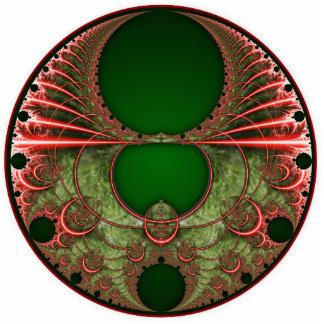 Merry Mandelbrot Christmas Wreath Ornament