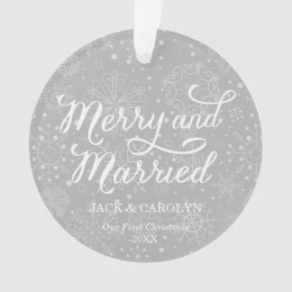 First Married Ornaments & Keepsake Ornaments | Zazzle