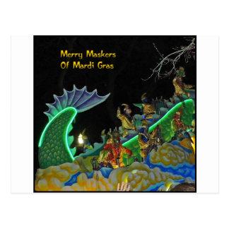 Merry Maskers of Mardi Gras Postcard