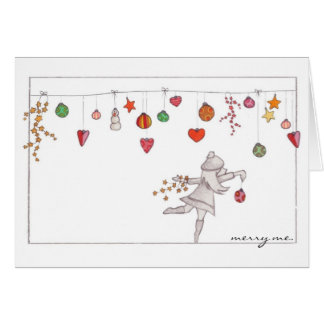 """""""Merry me"""" Ornaments Holiday Notecard"""