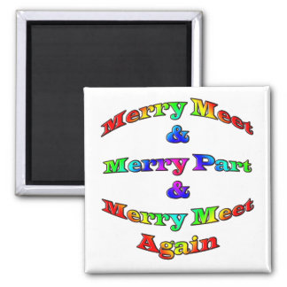 Merry Meet 2 Inch Square Magnet