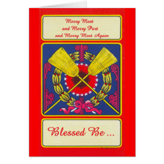'Merry Meet - Blessed Be' Greeting Card