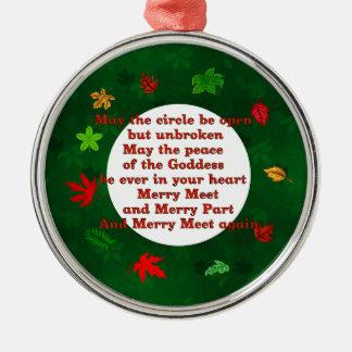 Merry Meet Metal Ornament