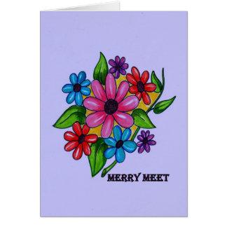 Merry Meet Spring Flowers Card