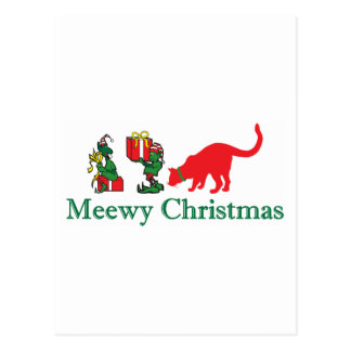 Merry Meewy Christmas Cats Postcard