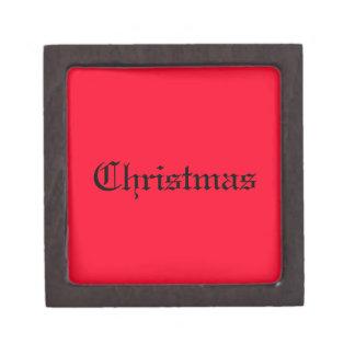 Merry Merry Christmas Designer Bright Red Xmas Premium Gift Boxes