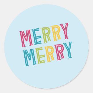 Merry, Merry! Classic Round Sticker