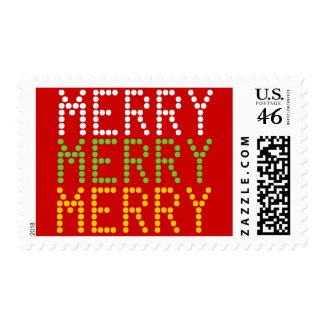 Merry Merry Digital Holiday Postage