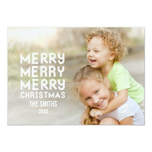 MERRY MERRY HOLIDAY PHOTO CARD | LIGHT BLUE
