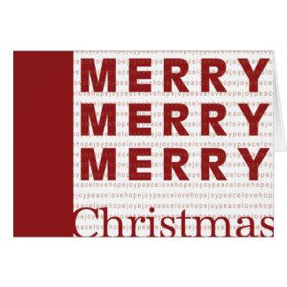 Merry, Merry, Merry Christmas Card