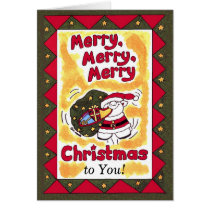 Merry, Merry, Merry Christmas! Card
