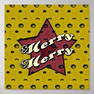 Merry Merry Ochre Star Poster