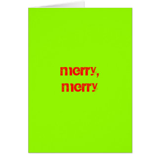 Merry Merry Quite Contrary Greeting Card