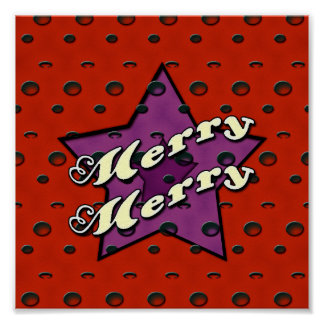 Merry Merry Red Star Poster
