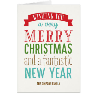 Merry Message Holiday Greeting Card