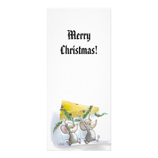 Merry Mice Mic & Mac Holiday Bookmark Rack Card