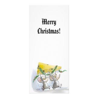 Merry Mice Mic & Mac Holiday Bookmark Rack Card