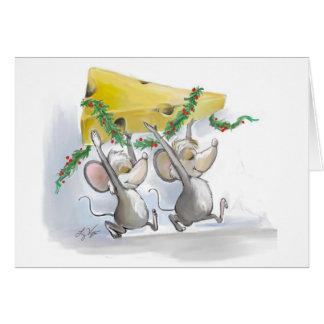 Merry Mice Mic & Mac Holiday Card