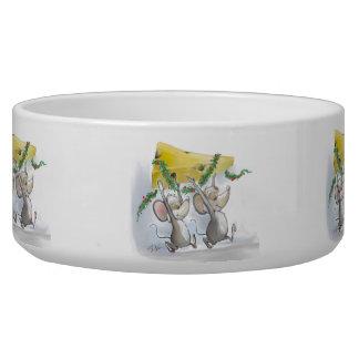 Merry Mice Mic & Mac Holiday Pet Bowl