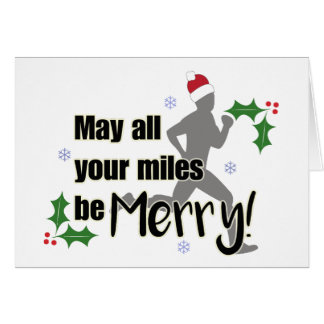 Merry Miles 2.0 Holiday Runner's Christmas Card