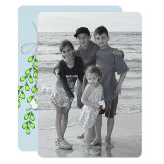 Merry Mistletoe Double Sided Holiday photo card