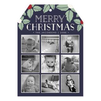 Merry Mistletoe   Holiday Photo Collage Card
