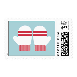 Merry Mittens Postage Stamp