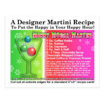 Merry Mocha Christmas Martini Recipe Postcard