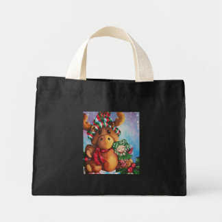 Merry Moose Holiday Tote Bags
