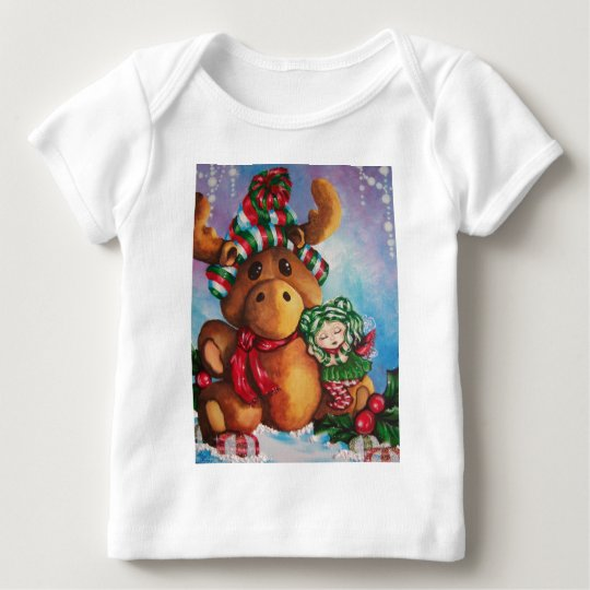 Merry Moose Wishes Baby Shirt