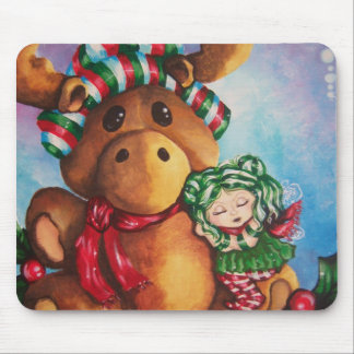 Merry Moose Wishes Mousepad