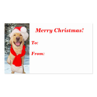 Merry Moses Gift Tag Business Card