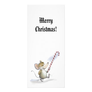 Merry Mouse Moe Holiday Bookmark Rack Card