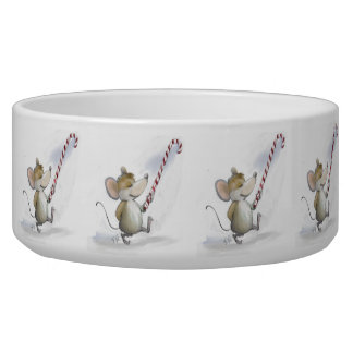Merry Mouse Moe Holiday Pet Bowl
